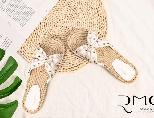 Esparidills Insole Metal Rivet Decorate Bowknot Strap Flat Sandals 6999120